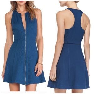 Trina Turk • bishop zip front racer back dress